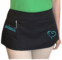 new black server apron 3 pocket cocktail waist waitress rest