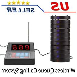 10*Pagers Restaurant Pager System 1.5km Connection Wireless