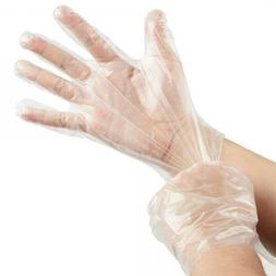 200X Clear Plastic Disposable Gloves Restaurant Home Service