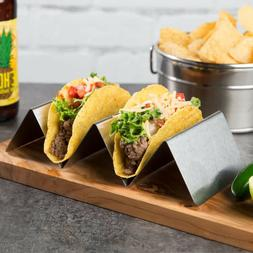 12 PACK Stainless Steel 2 or 3 Taco Holder Server Stand Comm