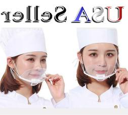 15x New Transparent Catering Restaurant Plastic Kitchen Mask