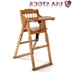 2020 Baby High Chair Bamboo Stool Infant Feeding Children To