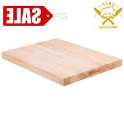 """24"""" x 18"""" x 1 3/4"""" Wood Commercial Restaurant Solid Cutting"""