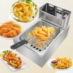 2500W 6L Commercial Electric Countertop Deep Fryer Basket Re