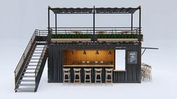 2X Converted Shipping Containers - BAR / Restaurant / Coffee