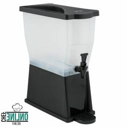 3 Gallon Black Plastic Iced Tea Punch Juice Water Beverage D