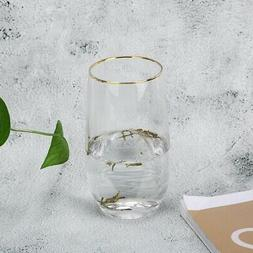 375ml Clear Water Cup Drinking Glass Portable Juice Mugs for