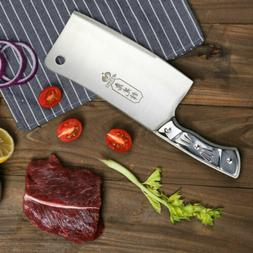 7'' Kitchen Knife Cleaver Stainless Steel Chopper Butcher fo