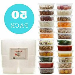 8 oz Plastic Food Storage Containers with Lids - Restaurant