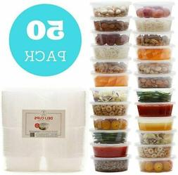 8 oz Plastic Food Storage Containers with Lids   Restaurant