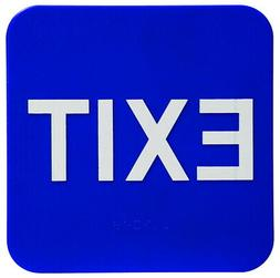 ADA Braille Exit Sign 6 x 9 Blue White Office Business Resta