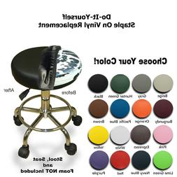 Bar Stool Cover Replacement STAPLE ON Seat Vinyl - Office, S