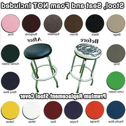 Bar Stool Cover Round STAPLE ON Vinyl Seat DIY Replacement -