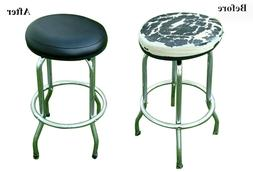 Bar Stool Cover Heavy Duty STAPLE ON Round Vinyl Replacement
