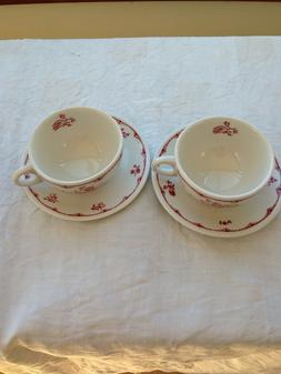 Walker China  Cup And Saucer  Hotel Restaurant Ware