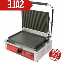 Avantco Commercial Panini Sandwich Press Grill - Countertop
