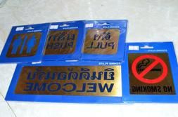 Etched Brass Thai Signs for Restaurants or other Businesses