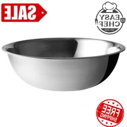 Extra Large 30 Qt Stainless Steel Restaurant Mixing Bowl Hea