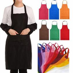 Fashion Men Women Solid Cooking Kitchen Restaurant Bib Apron