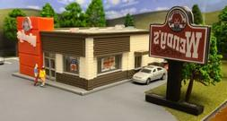 HO Scale  Building/Fast Food Restaurant/Scratch Built/Layout