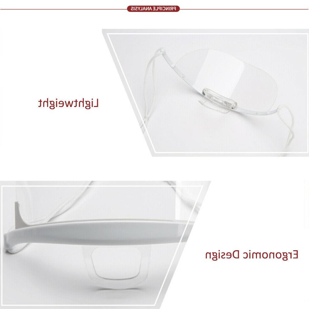 10pcs Mouth Spit Shield Catering