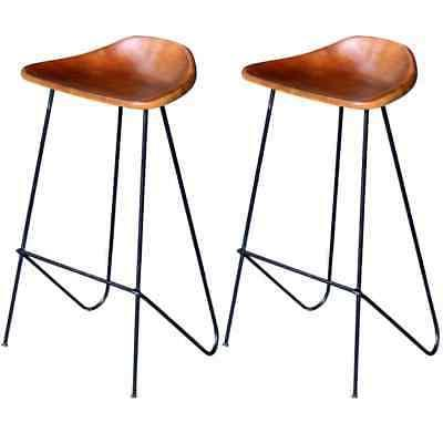 2 pcs real leather bar chairs stools