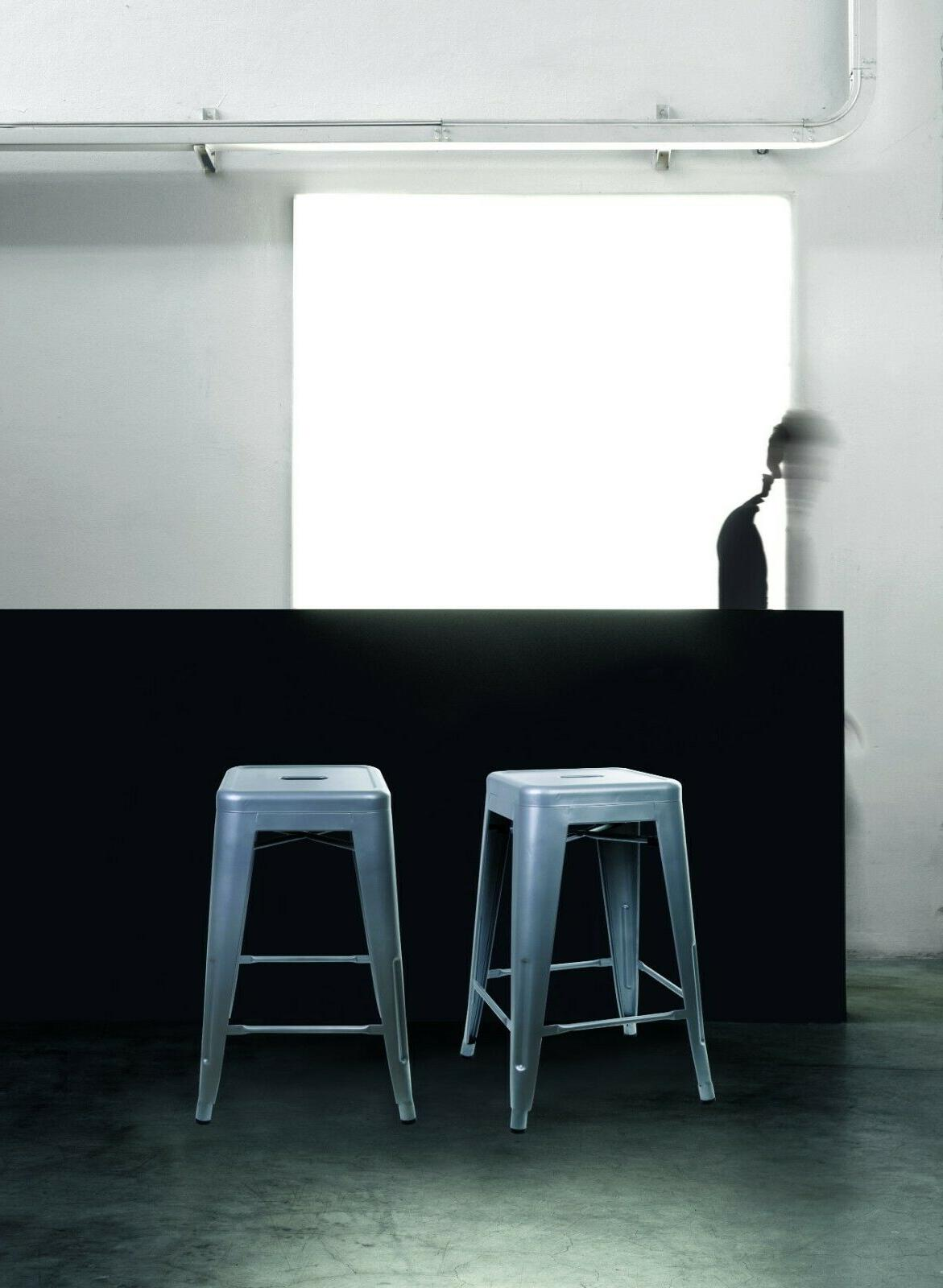 24'' Industrial Counter Height Bar Stools