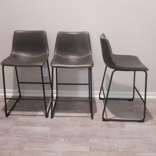 Chair Kitchen Counter Faux Leather inch