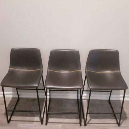3 Stools Chair Dinning Chairs Counter Faux inch