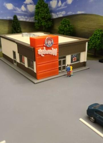 HO Scale Building/Fast Restaurant/Scratch