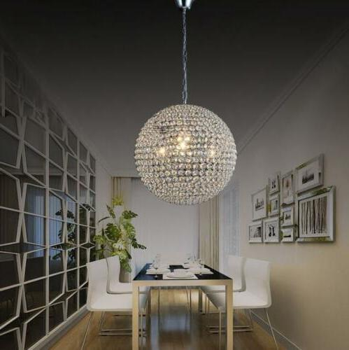 luxury led round k9 crystal chandeliers lamp