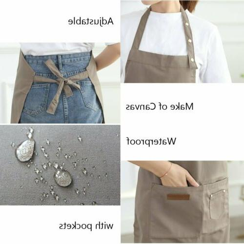 Men Women Apron Waterproof w/ Chef