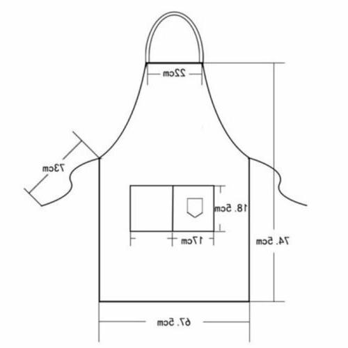 Men Women Apron Waterproof w/ Pockets Chef Cooking