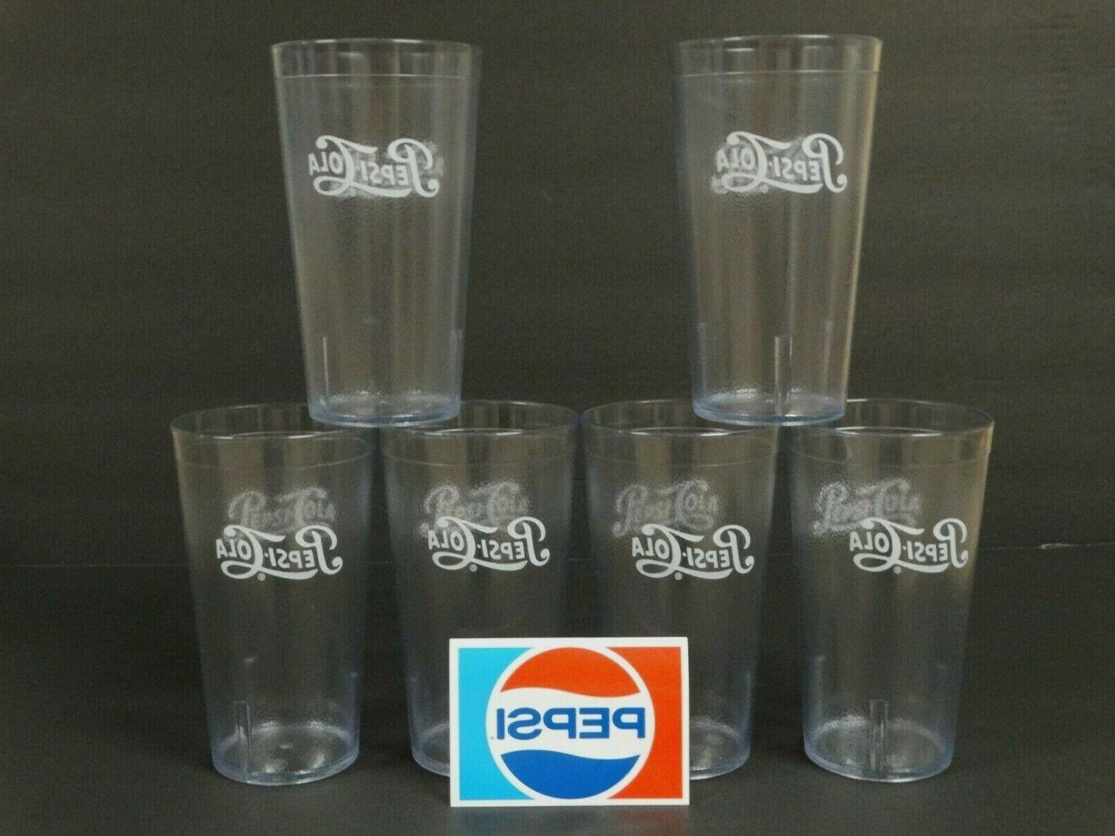 clear drinking glasses set of 6 plastic
