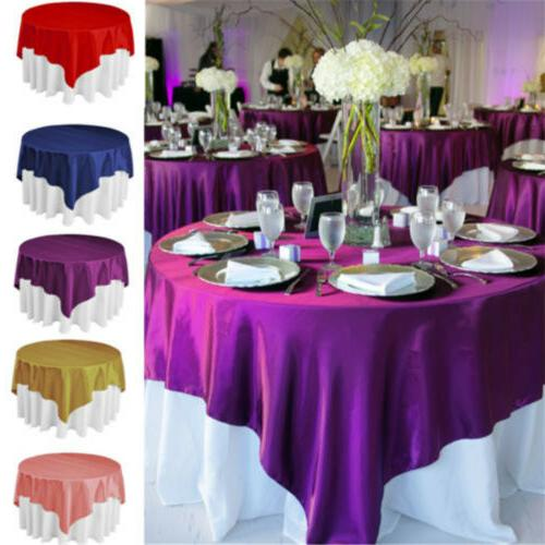 Square Satin Fabric Tablecloths Restaurant Table Cover Cloth