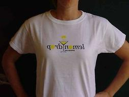 LEMON DROP BAR Restaurant Wear Cocktail Womens White Top T-S