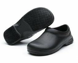 Men's Restaurant Oil Resistant Kitchen Work Shoes Slip-On Sk