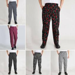 New Chef Pants Men Baggy Trousers Restaurant Catering Cook U