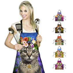 Novelty Women Kitchen Apron Cute Cat Cooking Restaurant Bib