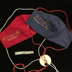 personalized face mask embroidered name restaurants store
