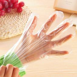 Plastic Clear Disposable Gloves Restaurant Home Food Service