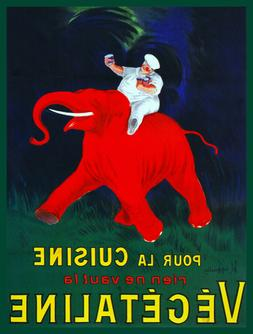 Quality POSTER.Chef on Red Elephant.Cook.Restaurant.Home Dec