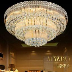 Remote Control Luxury K9 Crystal LED Chandeliers Restaurant