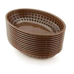 Restaurant Commercial Oval Fast Food Service Baskets, Brown,