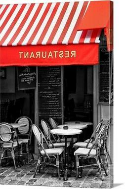 Restaurant - Montmartre - Paris Canvas Wall Art Print, Paris