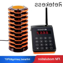 Restaurant Paging System 10 Coaster Pagers FM Modulation Vib