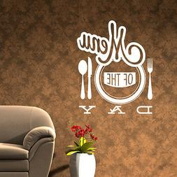 Restaurant wall sticker vinyl decal menu of the day cafe kit