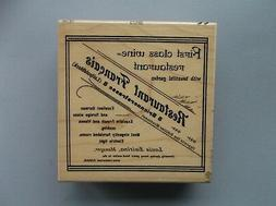 ALL NIGHT MEDIA RUBBER STAMPS RESTAURANT FRANCAIS NEW wood S