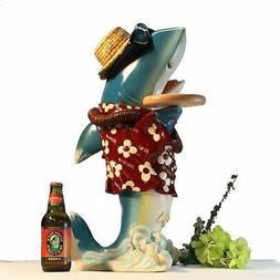 Shark Butler Waiter Statue Tray Old Gold Tie Kitchen For Res