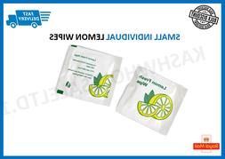 Small Lemon scented Wet Wipes Napkins Individually Wrapped -